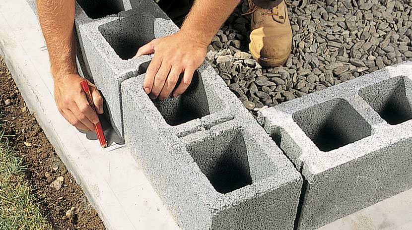 how to cut through cinder block wall